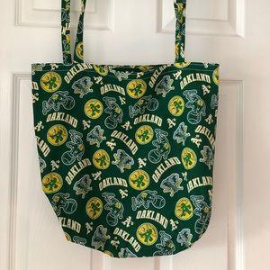 Handbags - Handmade Shopper: Oakland A's Baseball (NWOT)